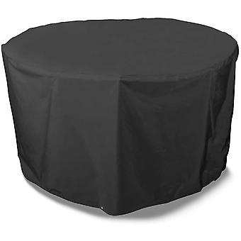 Bosmere Storm Black runde Schutzhlle fr 6- bis 8-Personen Sitzgruppe