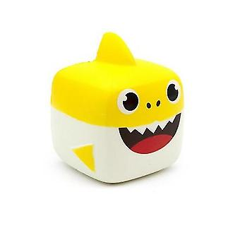 Slow Rebound Cartoon Shark Soft and Pinchable Pu Simulation Descompression Toy