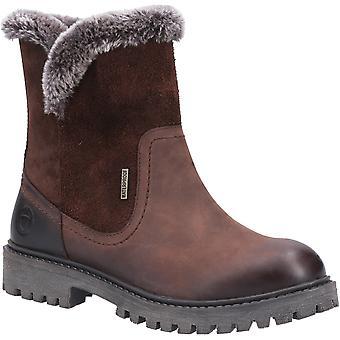 Cotswold femmes aldestropes toison-doublées de bottes brun 31000