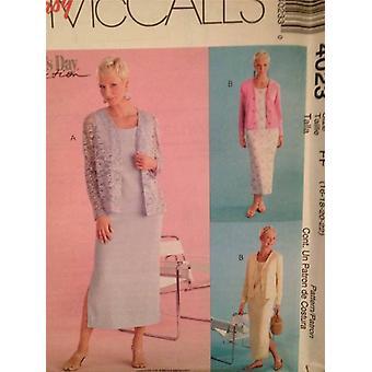 McCalls Schnittmuster 4023 Damen / Misses Kleid Cardigan Größe 12-18 ungeschnitten