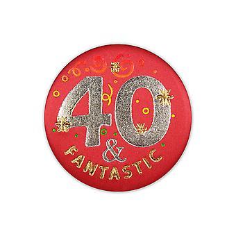 40 & Fantastische Satin Button (Packung mit 6)
