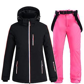 Impermeable impermeable a prueba de viento invierno chaqueta y correa de nieve pantalón conjunto