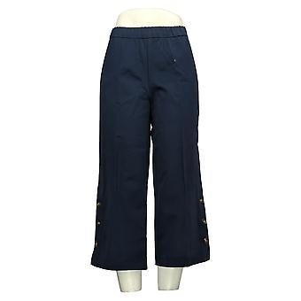 Isaac Mizrahi En vivo! Pantalones Pequeños para Mujer 24/7 Stretch Culotte Azul A375761
