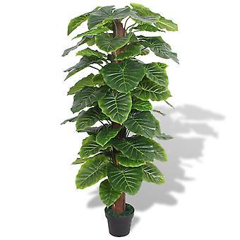 vidaXL الاصطناعي تارو النبات مع وعاء 145 سم الأخضر