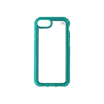 Speck Presidio V-Grip Case for Apple iPhone 8/7/6s - Clear/Caribbean Blue