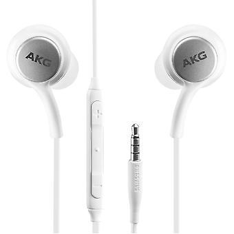 Original AKG EO-IG955 Headset InEar 3,5mm blanc, Galaxy S10 S10e S9 S9 S8, Plus, S7, S6, Edge, Note 8, Note 9 10