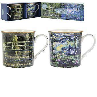 Claude Monet Fine China Mugs Set of 2