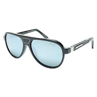 ZILLI Sunglasses Titanium Acetate Leather Silver Polarized France ZI 65008 C01