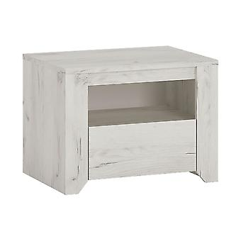 Feather 1 Drawer Bedside Cabinet