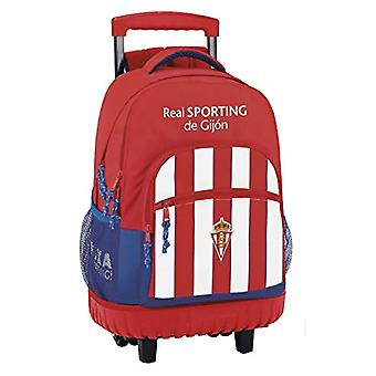 Great School Backpack With Wheels Real Sporting De Gijon Official