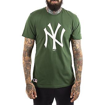 Nieuwe tijdperk MLB seizoensgebonden team logo New York Yankees korte mouw T-shirt in Hooley Green