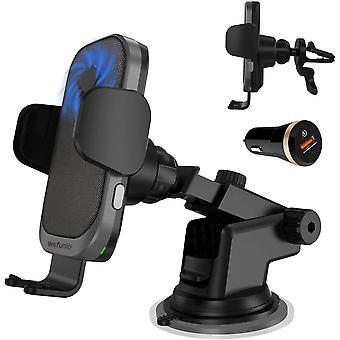 FengChun 15W Caricatore Wireless Auto Sensore Automatico con Ventilatore Caricabatterie Wireless