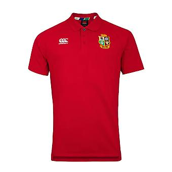 Canterbury British & Irish Lions Rugby Pique Polo | Mens | Tango Rood