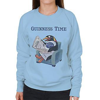 Guinness pingvin leser avis kvinners genser
