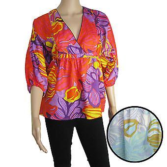 Antik Batik Womens 'Sunflo' 3/4 Sleeve V Tee Shirt