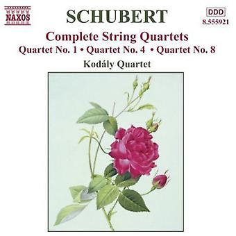 F. Schubert - Schubert: Streichquartette Nr. 1, 4, 8 [CD] USA import