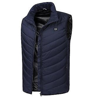L sininen neljän vyöhykkeen älykäs lämmin hihaton takki x4291
