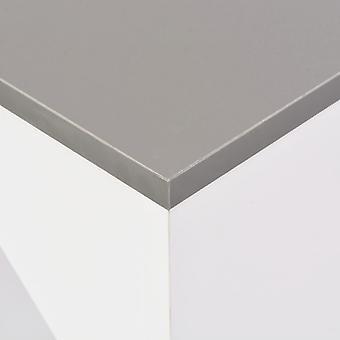 vidaXL Bar table with movable shelf White 138 x 40 x 120 cm