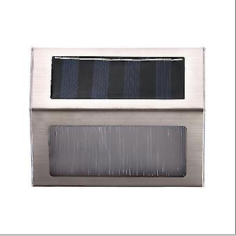 2Pcs 1pcs warm white 3led solar lamp with smart lighting sensor rain-proof fence light az4613