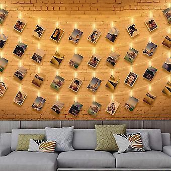 6M 40 led photo light garl led photo garl wall photo holder garl clip photo holder dt6215