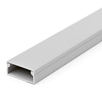 StarTech.com σταθερή διαδρομή διαχείρισης καλωδίων με περίβλημα, 38 mm W x 16 mmH - 2 mL, αγωγός καλωδίου / τοίχου για καλώδιο/ καλώδιο τροφοδοσίας PVC ενός καναλιού, μέγιστο 30 καλώδια, λίστα UL, αλεξίπτωτο καλωδίων, χλωριούχο πολυβινύλιο (PVC), λευκό