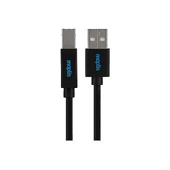 Maplin Premium USB A 2.0 Male la USB B Male Cablu 5m Negru