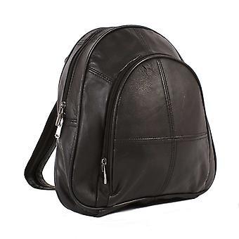 Läderryggsäck för damer med säkerhetsficka