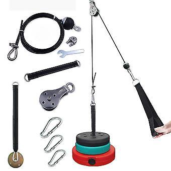 Diy lengte kabel katrol systeem verstelbare machine bevestiging met het laden van fitnessapparatuur