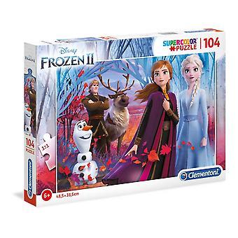 Disney Frozen 2 Supercolor pussel (104 stycken)