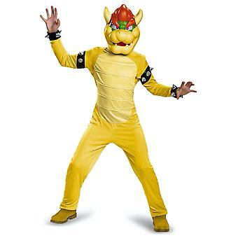 Bowser Deluxe Super Mario King Koopa Villian Jeu vidéo Cartoon Boys Costume