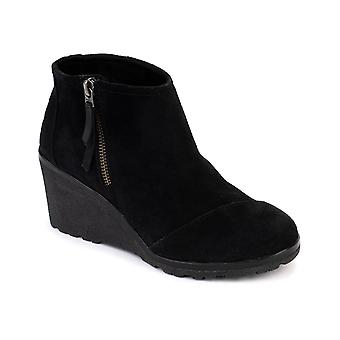 TOMS Womens Avery Wedge Booties
