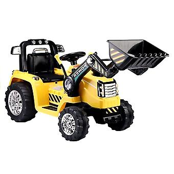 Excavator electrically controllable with steerable arm – yellow