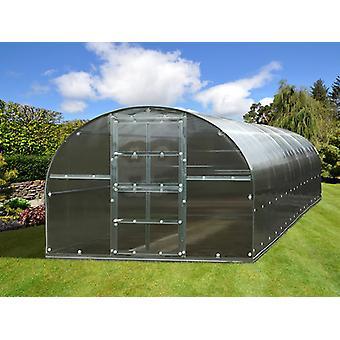 Drivhus polycarbonat TITAN Arch 320, 30m², 3x10m, Sølv