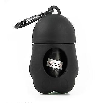 Contenedor portátil de la bolsa de basura para mascotas para gatos y perros (Negro)