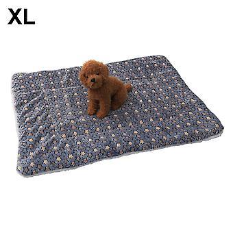 (Estrelas azuis) Tapete de sono de almofada de pelúcia quente para canil