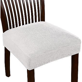 Stretch jacquard stol sätesöverdrag för matsal stolssäte slipcovers avtagbara tvättbara stol stol kudde slipcovers, elfenben