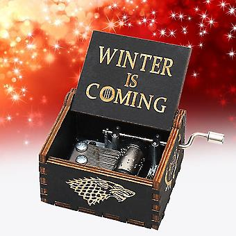 Hand Crank Wooden Music Box