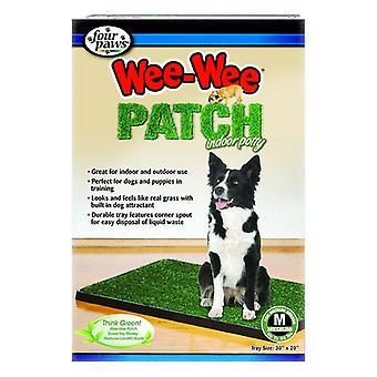 """ארבע כפות רגליים הקטנות הקטנות תיקון סיר מקורה - בינוני (20 """"ארוך x 30"""" רחב) לכלבים עד 44 ק""""ג"""