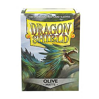 Dragon Shield Olive Matte Card Sleeves - 100 Sleeves
