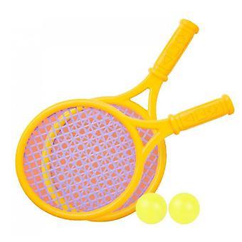 Outdoor interactieve strand speelgoed tennis racket set (geel)