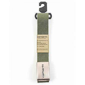 Carhartt WIP Clip Belt Chroom - Dollar Groen