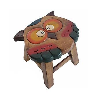 Kids Wooden Stool Owl