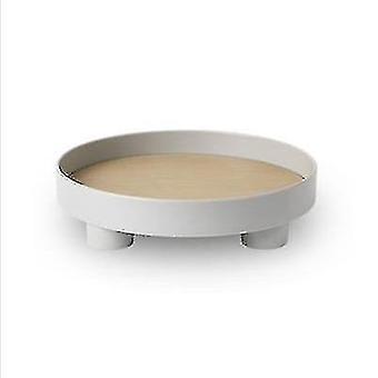 Decorative trays scandinavian style cute round eco friendly decorative storage tray gray