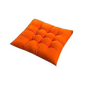 Quadratischer Stuhl weiches Pad Sitzkissen für Home Office Indoor Outdoor Garten (Orange)