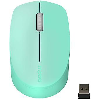 M100g Multi Device Silent Bluetooth mouse(bt3.0+bt4.0+usb), Könnyű kapcsoló 3 eszközre, zöld