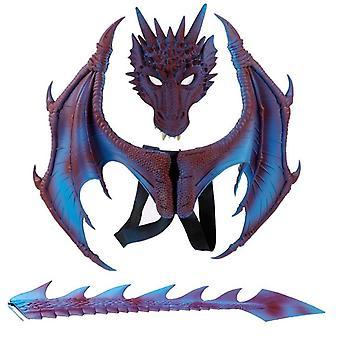Дети Dragon Wings Костюм, Динозавр Хвост Маска Набор, Косплей Костюм