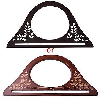 Wood Handle Purse Frame Wooden Bag Handle Diy Handbag Accessories