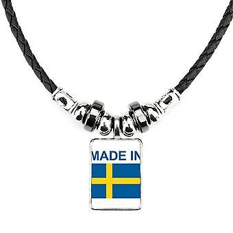 מיוצר בשוודיה מדינה אהבה שרשרת