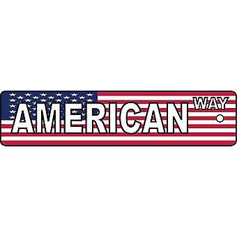 American Way Street Sign Car Air Freshener