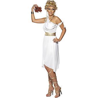 Griekse klederdracht jurk wit Griekenland Toga
